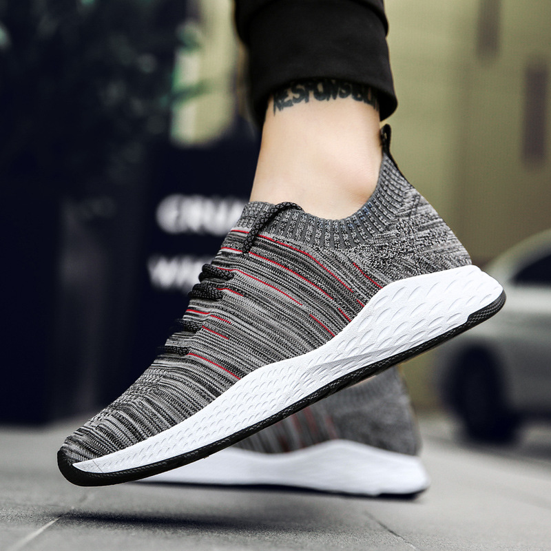 Running Light Shoes For Men Flat Arder Sports Shoes Lace Up Trend Youth Students Jogging Shoes Male Running Shoes Tennis