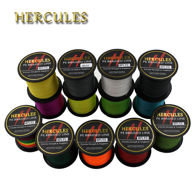 Special Offers Hercules 8 Strands PE Braided Fishing Line Saltwater Fishing Weave Extreme Super Strong Super Power Casting 100M