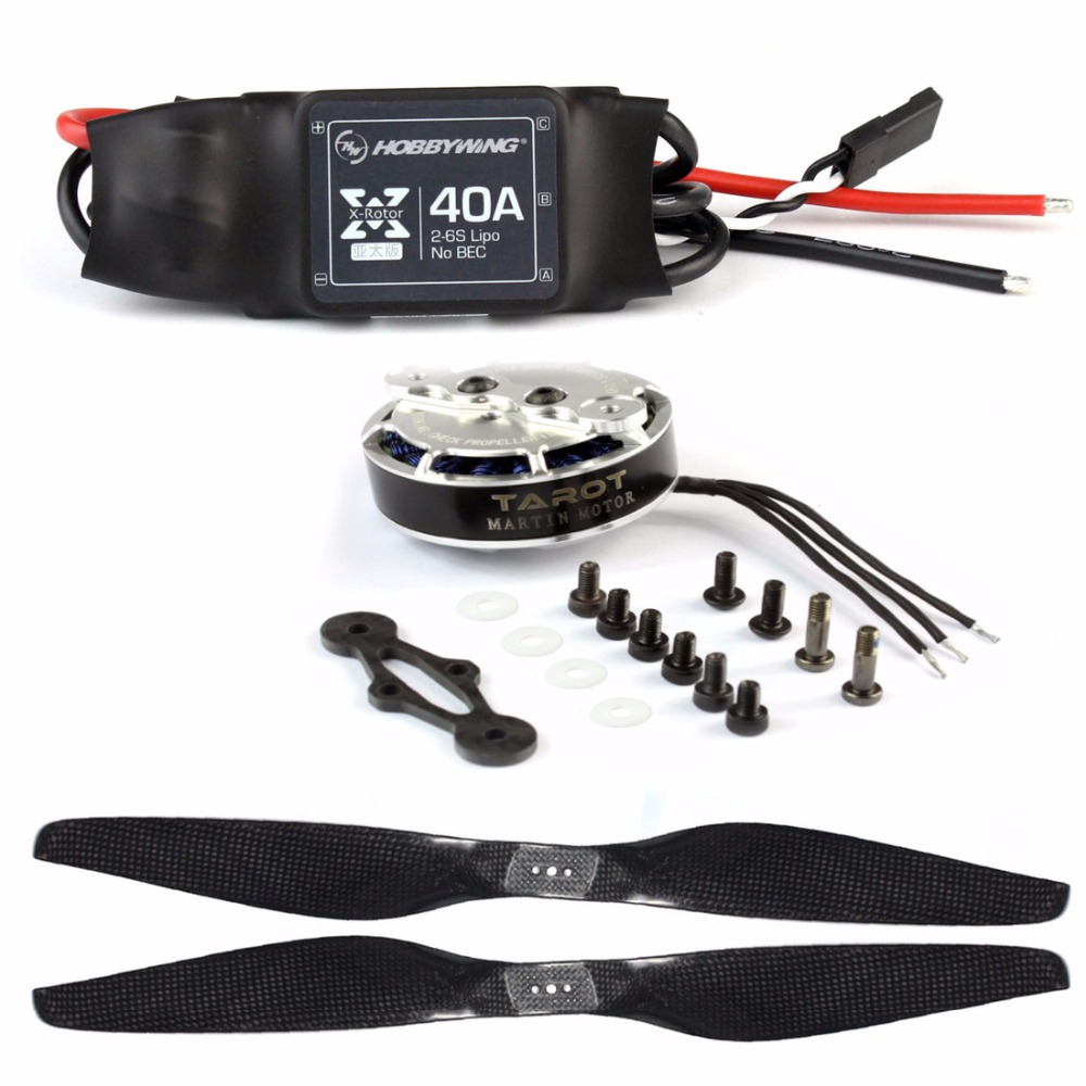 DIY ชุด ZD850 ชุด Landing Gear 330KV Bruless มอเตอร์ 40A ESC 1555 Props โช๊คอัพสำหรับ FPV 6 aelx Hexacopter Drone-ใน ชิ้นส่วนและอุปกรณ์เสริม จาก ของเล่นและงานอดิเรก บน   2