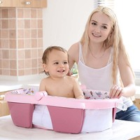 Baby Shower Tub Multifunctional Folding Bathtub Infant Portable Seatable Reclining Enlarged Plastic Inflatable Kids Bathtub 0 2T
