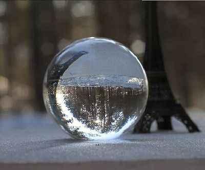 חדש Arrivel ברור קריסטל קסם כדור אסיה טבעי קוורץ צלול ריפוי המצוטט כדור Sphere 40mm