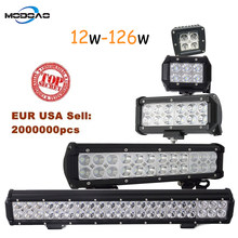 3 4 7 12 20inch 12W 18W 36W 72W 126W LED Work Light Bar for Motorcycle Tractor Boat Off Road 4WD 4x4 Truck SUV ATV(China)