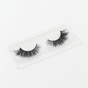 Image 4 - LEHUAMAO false eyelashes handmade real mink lashes fur long 3D strip thick fake faux mink eyelashes Makeup beauty tool A19