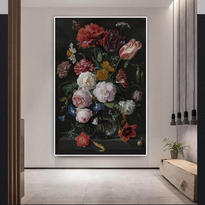 Благородный цветок картина маслом на холсте книги по искусству классические розы Куадрос Decoracion плакаты и принты изображение на стену, севе...