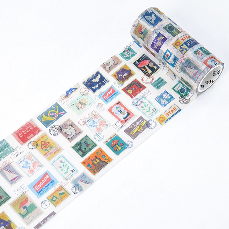 100mm Vintage Mailbox Postage Stamps Collecting Story Decoration Planner Washi Tape DIY Diary Scrapbooking Masking Tape Escolar