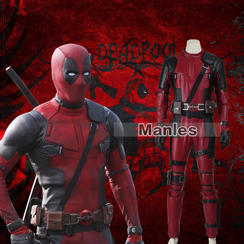 Deadpool Jumpsuit Wade Cosplay Deadpool Costume Comic Outfit The Jumpsuit+Mask