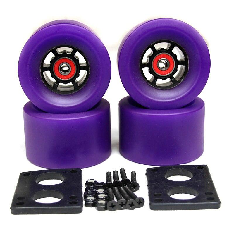 82A Skateboard Wheels 83*52mm largo junta de la ciudad corre 87*52mm ruedas 6mm Riserpad 35 MM pernos ABEC-9 teniendo gran Longboard ruedas - 5