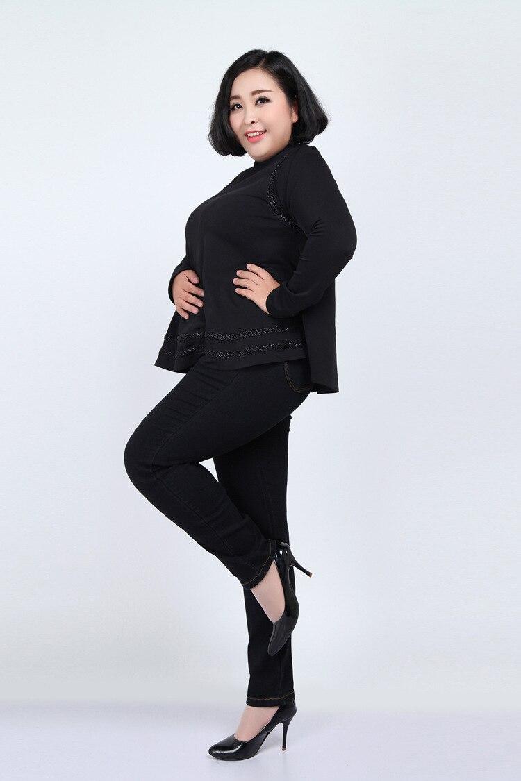 2019 Pantalones Plus 5xl 7xl Primavera Mezclilla Cintura Las Negro 6xl Lápiz azul 4xl Tamaño Jeans De Casuales Mujeres Alta Mujer Yh01 wOPIAB