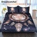 Ловец снов постельный комплект золотой черный богемный пододеяльник с наволочками солнце и луна экзотическое одеяло/одеяло набор