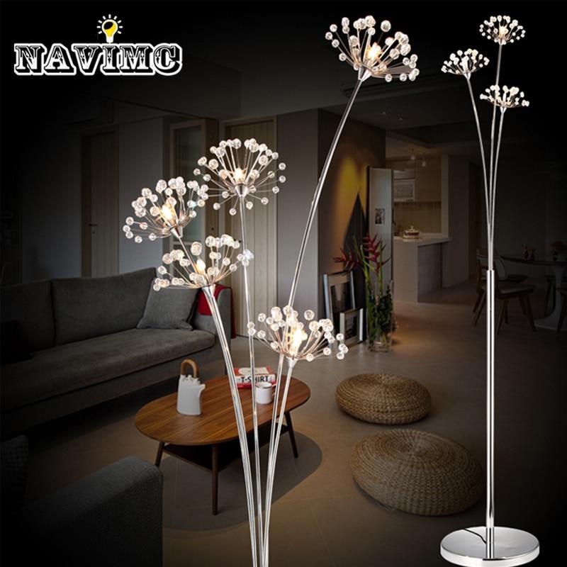 Modern LED Floor Lamps for Bedroom Decors Dandelion Design Decorative Lighting Fixtures 3 lights or 5 lights