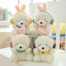 1pcs 20cm music rabbit doll, cute Korean rabbit plush toy rabbit doll, children doll, birthday girl,free shipping!
