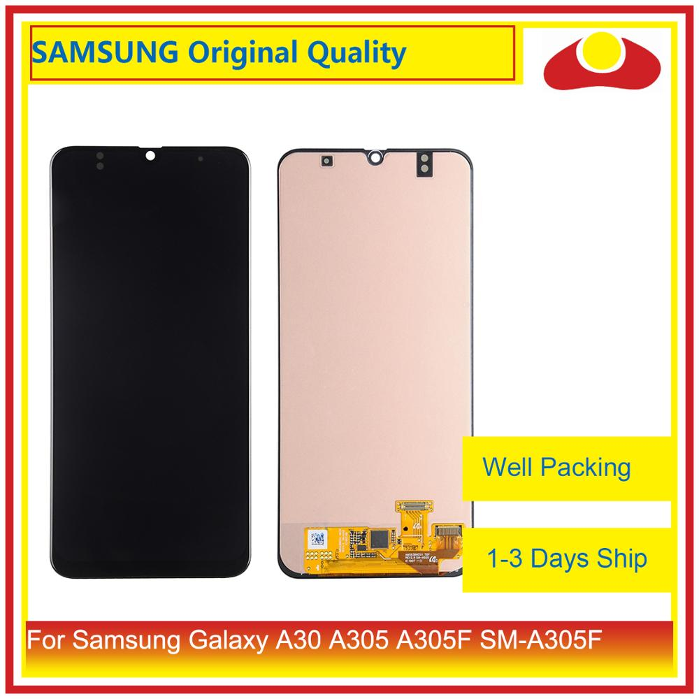 10Pcs/lot Original For <font><b>Samsung</b></font> Galaxy <font><b>A30</b></font> A305 A305F SM-A305F LCD Display With Touch Screen Digitizer Panel <font><b>Pantalla</b></font> Complete image