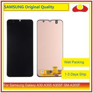 """Image 1 - Оригинальный 6,4 """"для Samsung Galaxy A30 A305 A305F SM A305F ЖК дисплей с сенсорным экраном дигитайзер панель Pantalla в комплекте"""