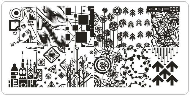 NUEVO TOP Nail Art Placa de la Imagen 6*12 CM de Alta Calidad de Uñas ZJOY1-30 Design Nail Art Stamping Plantilla Herramienta de Impresión Sello imagen
