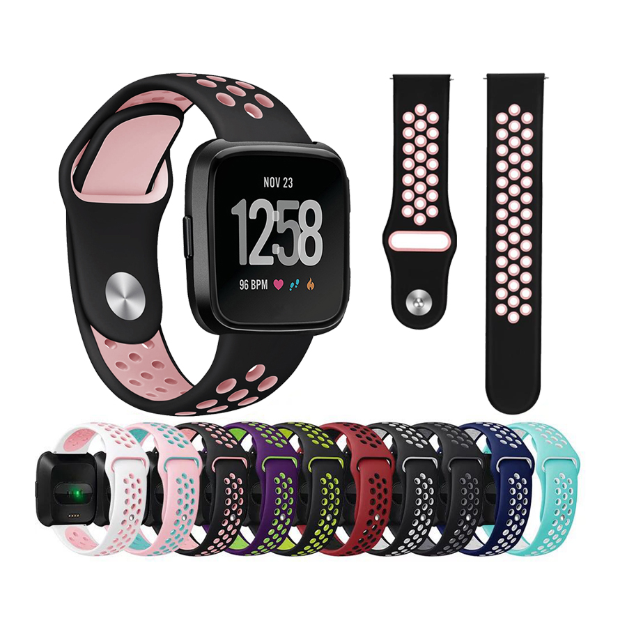 Colorful Watch Strap for Fitbit Versa Band Sport Silicone Watch Band Bracelet Wristband for Fitbit Versa Replacement Straps