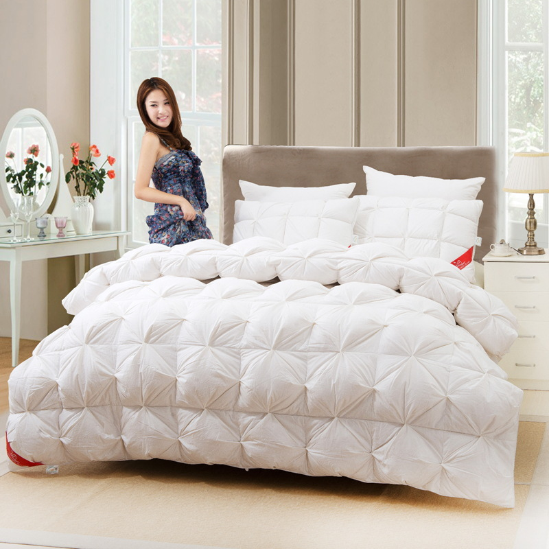 New white goose down quilts comforter bedding sets,Warm duvet bed ... : white bed quilts - Adamdwight.com