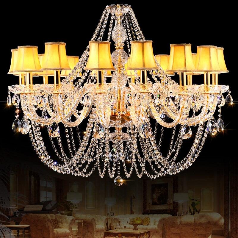 Gold Crystal Chandelier Novelty Lights for Kitchen Living room Lamp lustres de cristal led chandelier lampadari Wedding Decorate|Chandeliers| |  - title=