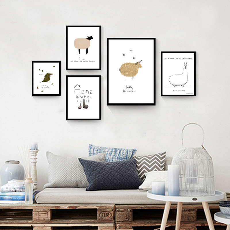 Nordic Style Canvas Art Print Wall Pictures Decorative Painting For Bedroom  Decor Home