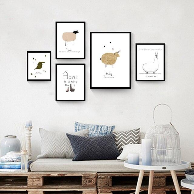 Nordischen Stil Leinwand Kunstdruck Wand Bilder Kunst Malerei für ...