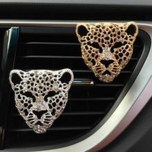 car air freshener in auto interior decor aroma accessories diffuser vent clip diamond leopard solid perfume bling