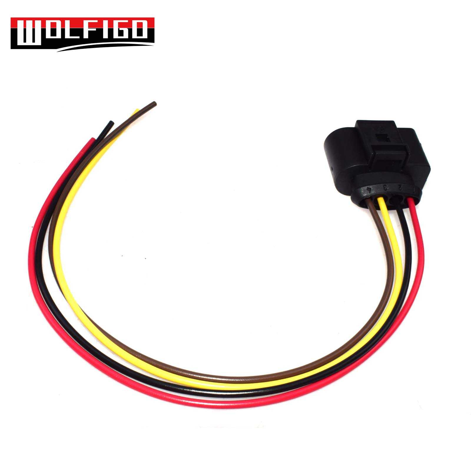 hight resolution of  wolfigo new ignition coil connector repair kit harness plug wiring for audi vw skoda
