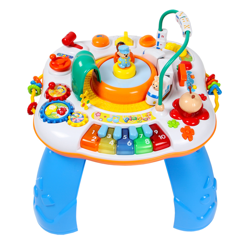 Genial Free Shipping Letter Train And Piano Activity Table Musical Baby Learning  Table Discovering Activity Baby Desk