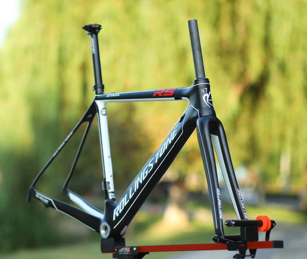 Rolling Stone Attack Carbon 700c Road Bicycle Aero Frame Fork Set UCI Approved 46cm 49cm 52cm