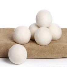 6X/paquete bola para lavar la ropa reutilizable Natural suavizante de tela orgánico para lavandería bola secador de lana orgánica Premium bolas Dropshipping. Exclusivo.
