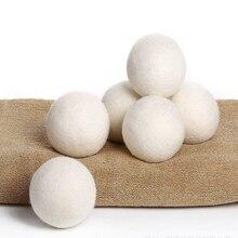 6x/pacote lavanderia bola limpa reutilizável natural orgânico tecido de lavanderia amaciante bola premium orgânica lã secador bolas dropshipping