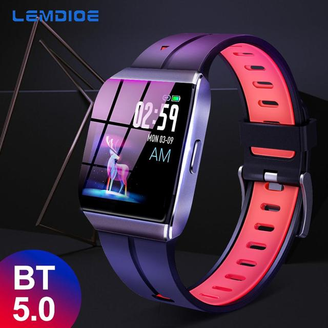 LEMDIOE X1 Dynamic Heart Rate Monitor Full Font Library Push Smart Watch Woman Men Automatic sleep tracking For Android IOS
