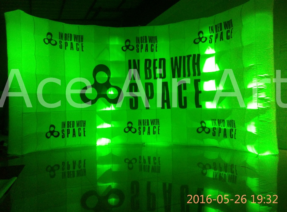Wonderful Promotional Free Standing Led Inflatable Wall With Brightest Colorful Full glow Lights Backdrop ...
