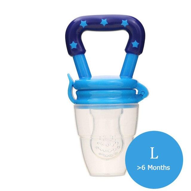 1 шт. свежий Ниблер для кормления ребенка соска для кормления дети фрукты Фидер соски Кормление безопасные детские принадлежности сосок соска бутылки - Цвет: blue L