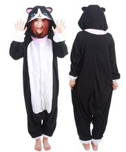 Japan Animal Cosplay Pyjamas Adult Animal Onesies Cute Black Cat Pajamas Costume for Carnival Halloween Woman Man Jumpsuit
