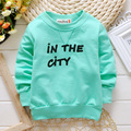 2017 New Children's clothing Fashion Hoodies unisex cotton Sweatshirts Cute letter print Sweater Kids Fashion Top Clothe 80-95cm