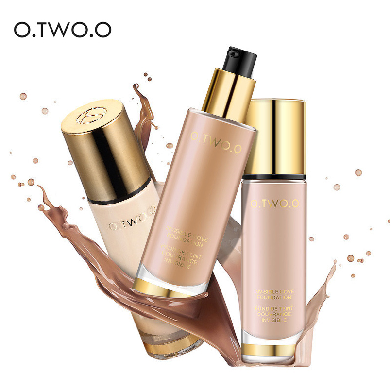 O.TWO.O Liquid Base Foundation Face Makeup Whitening Concealer Face Cover Corrector Waterproof Professional Base Makeup Cosmetic free shipping mink fur kintted cap fur cap fur hat wholesale