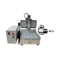 YOOCNC 800W water cooled spindle cnc mini milling machine 3020 4axis wood router
