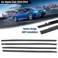 NEW 4PCS/Set Car Outside Window Moulding Trim Weatherstrip Seal Belt Weather Strip Fit for Honda for Civic 2016 2019