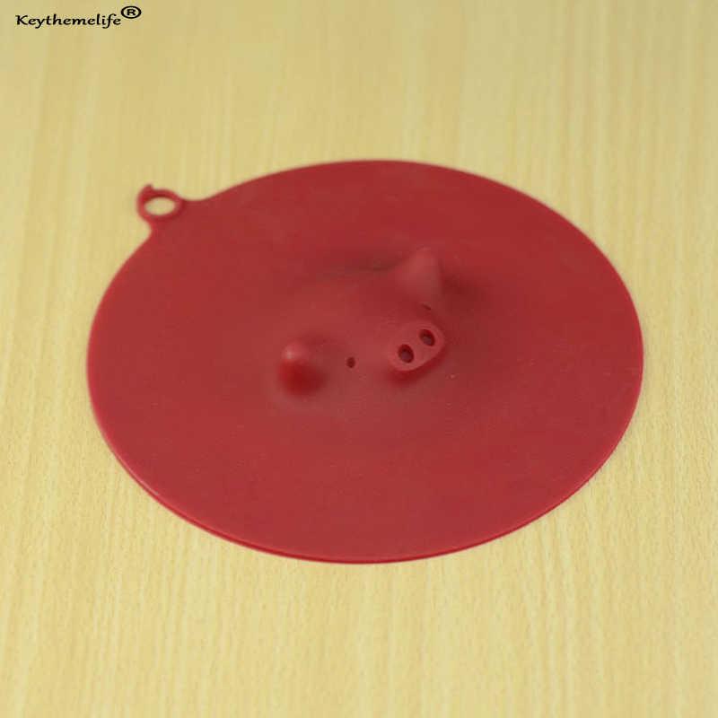 Милое противопылевое Силиконовое стекло крышка кофе всасывающее Уплотнение Крышка силиконовая Крышка кружки Крышка диаметр 13 см теплоизоляционная крышка