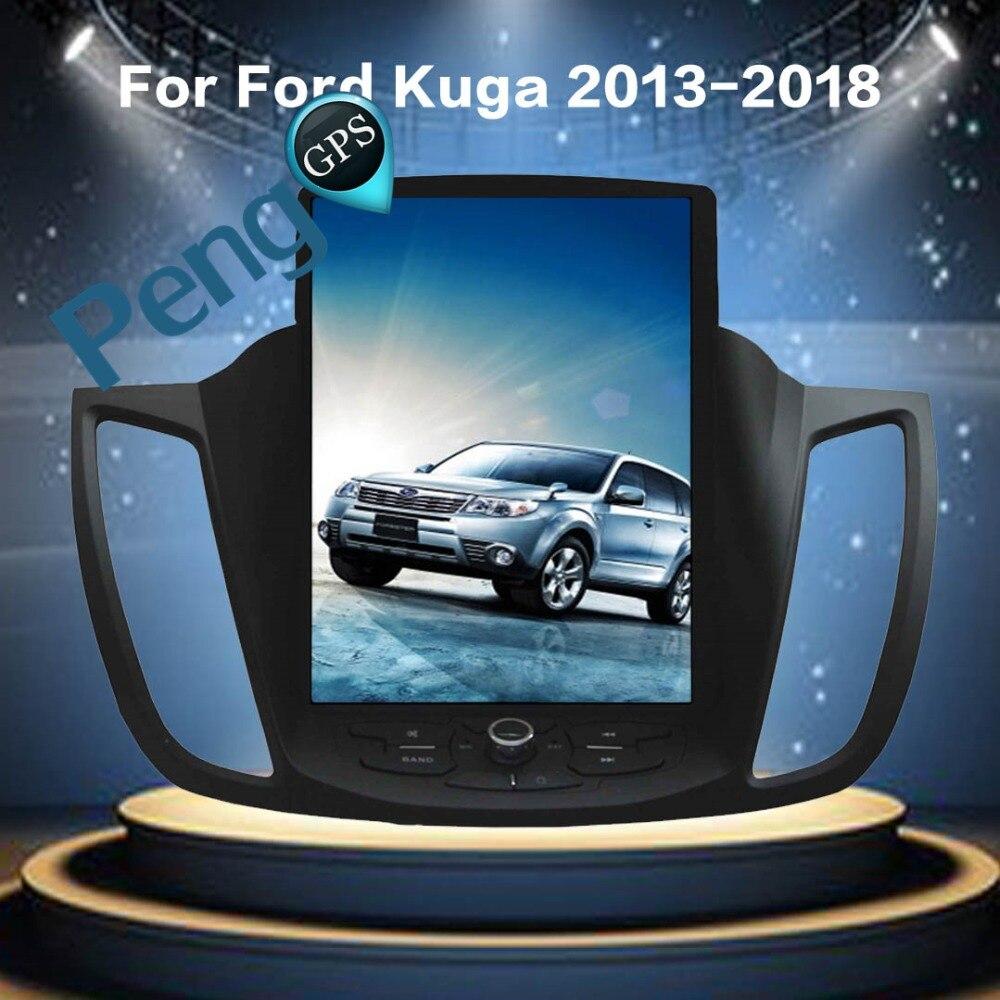 Tesla Style 10.4 Android 7.1 Autoradio GPS Navigation Lecteur DVD pour Ford Kuga 2013 2014 2015 2016 2017 prend en charge de Chauffage de Siège