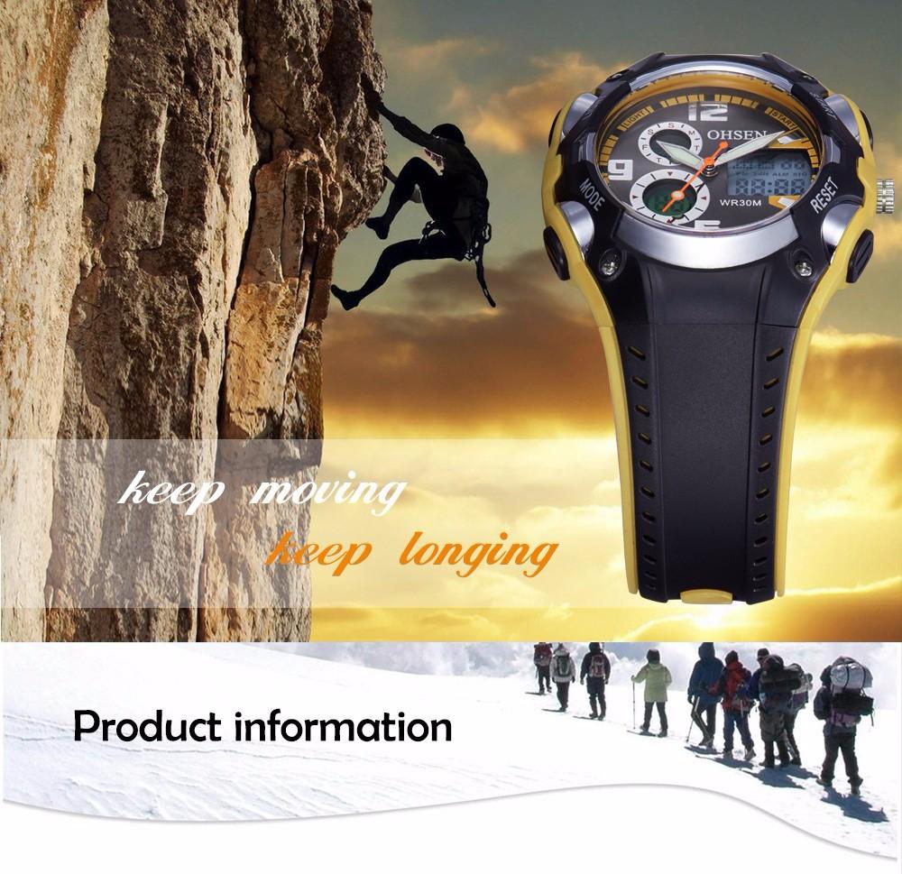 Original Ohsen Brand Fashion Sports Men's Watches 30M Waterproof Rubber Black Rubber Band Digital Sport Wristwatch for Men Gift (13)