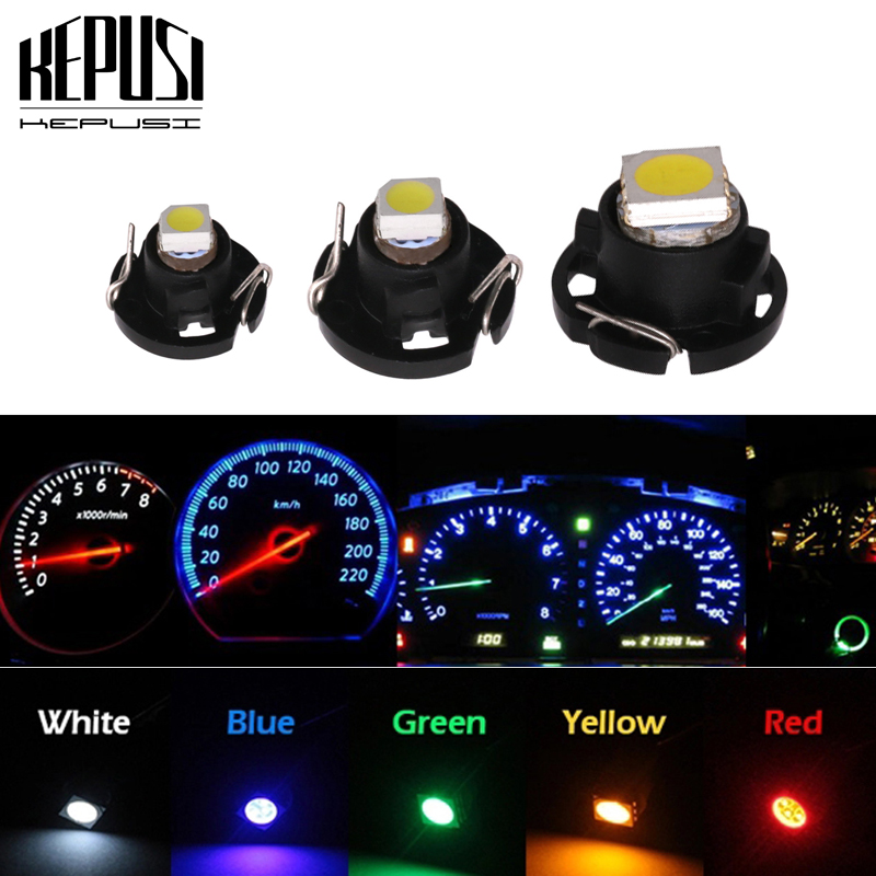 1x T3 T4 2 7 Led Light Dashboard Instrument Bulb Lamp Neo Wedge