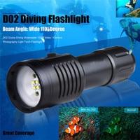 Bike Cycling Light Flashlight Scuba Diving Underwater 100M Video Camera Photography Light A1