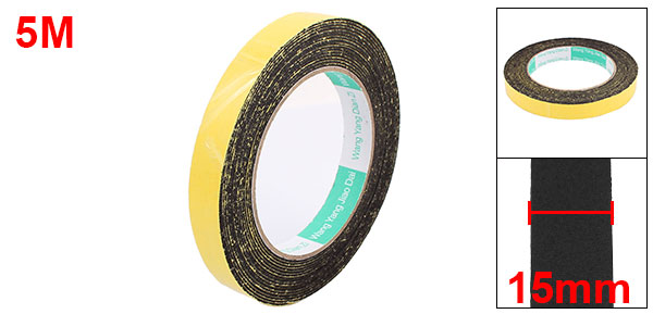 Купить с кэшбэком Uxcell 5M 10/15/45mm Single Sided Sponge Tape Adhesive Sticker Foam Glue Strip Sealing Sponge Foam Rubber Strip Neoprene Tape