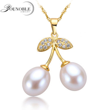 Fashion freshwater pearl pendant for women,real natural pearl pendant necklace 925 sterling silver jewelry girl birthday gift double r new design real fashion style natural freshwater pearl pendant for women high quality fine jewelry girl best gift