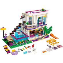 New Friends Livis Pop Star House Compatibility With Legoingly friends 41135 Building Block Set Andrea DIY Brick Toys Girls Gift