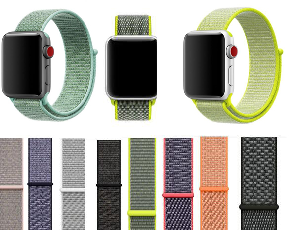 Newest Woven nylon Strap for Apple Watch band Sport loop 38 42mm 40mm 44mm bracelet for iwatch 4/3/2/1