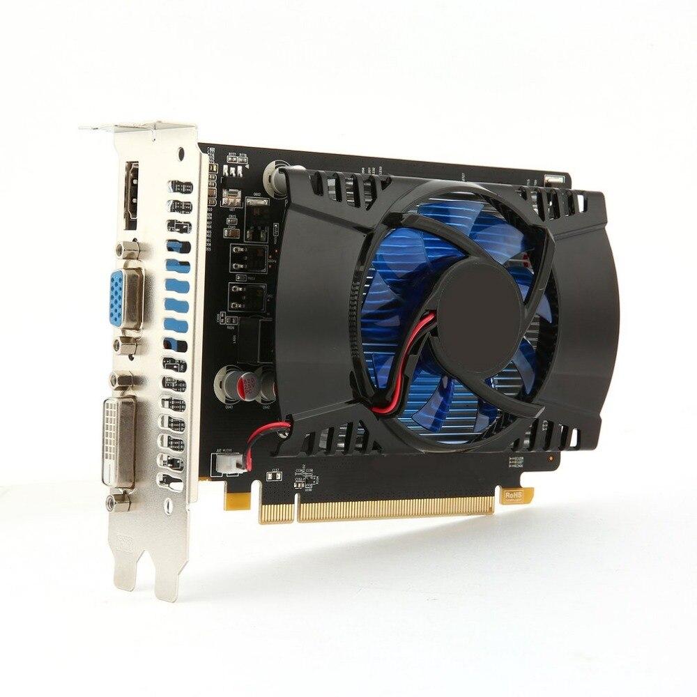 Multimedia juego de tarjeta gráfica de vídeo para HD7670 4g/128bit GDDR5 VGA DVI HDMI con un ventilador de refrigeración 480 Flujo de procesador