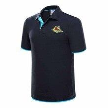 Летняя новая мужская рубашка поло с принтом Модная тонкая рубашка поло с коротким рукавом простая хлопковая рубашка поло летняя мужская рубашка Поло 3XL