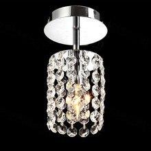 Simple moderna k9 crystal LED de la lámpara de techo pasillo deco hogar aseo balcón E14 bombilla lámpara de techo