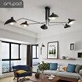 Artpad винтажный Железный скандинавский потолочный светильник регулируемый вверх вниз бар отель спальня гостиная ресторан E14 потолочный свет...